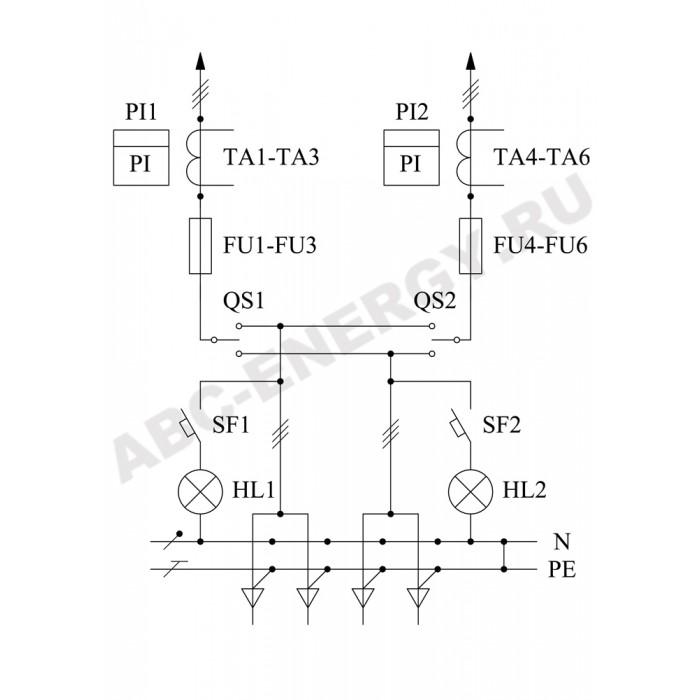 ВРУ1-16-40 УХЛ4 Вводно-распределительное устройство (без счетчиков)