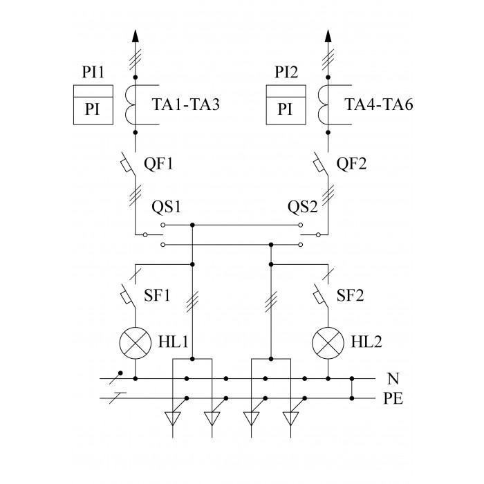 ВРУ1-11-10А УХЛ4 Вводно-распределительное устройство (без счетчиков)