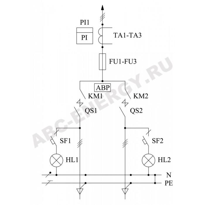ВРУ1-19-90 УХЛ4 Вводно-распределительное устройство (без счетчиков)