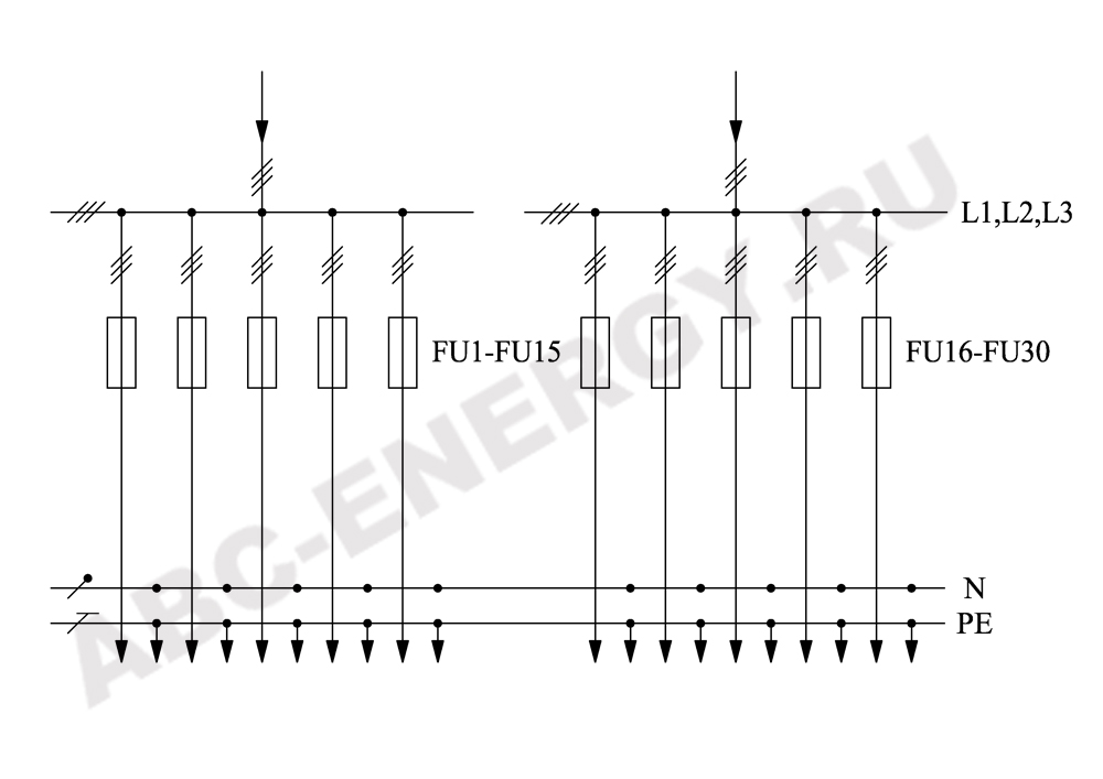 Схема электрическая ВРУ1-48-04, ВРУ1-48-04 цена, ВРУ1-48-04 купить
