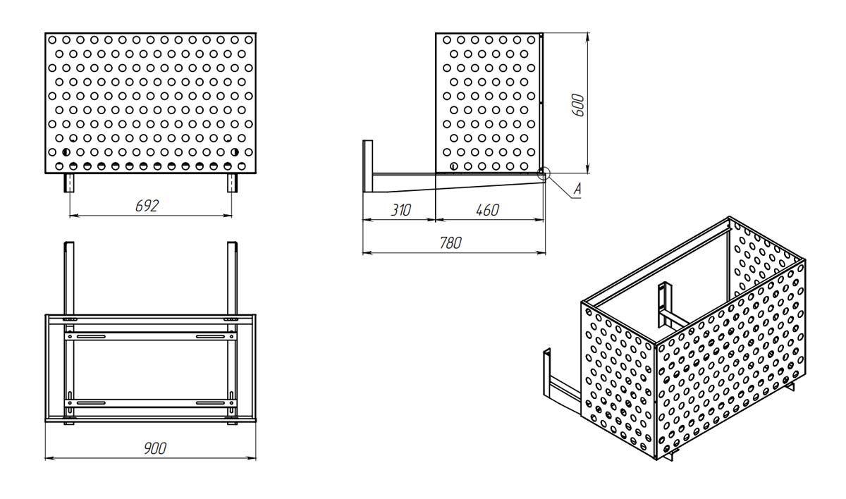 Схема корзины для кондиционера