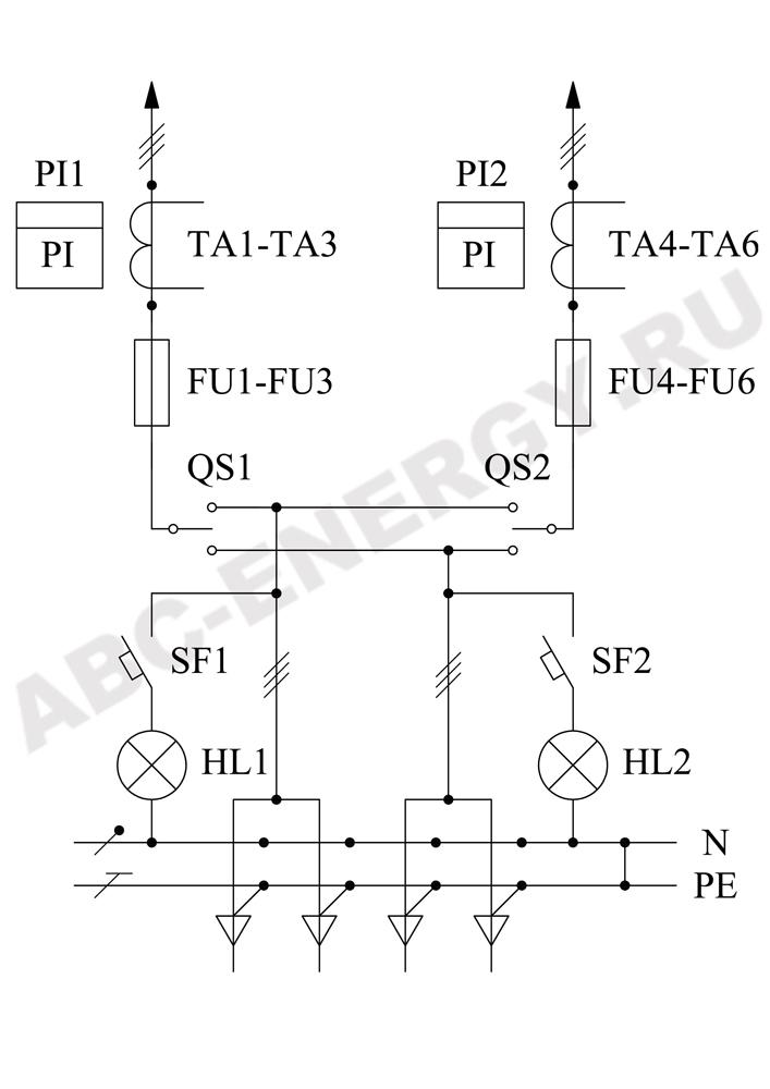Схема электрическая ВРУ1-16-40, ВРУ1-16-40 цена, ВРУ1-16-40 купить
